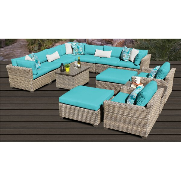Rochford 13 Piece Sectional Seating Group with Cushions by Sol 72 Outdoor