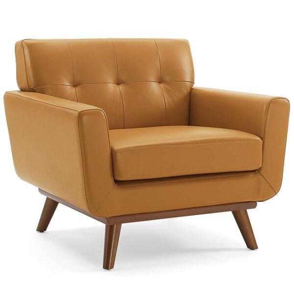 Discount Saginaw Top-Grain Leather Armchair