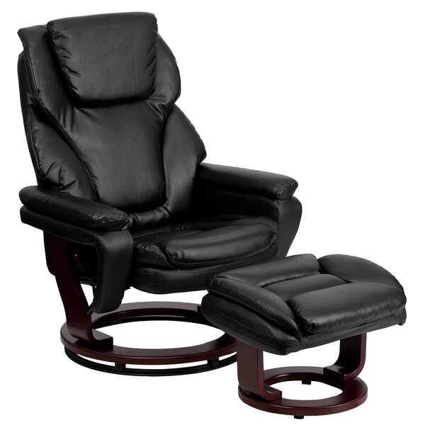 Review Multi-Position Manual Swivel Recliner With Ottoman