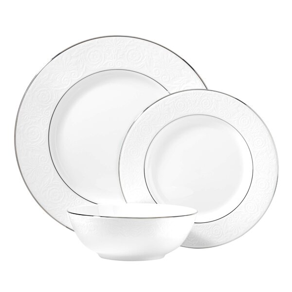 Artemis Bone China 3 Piece Place Setting, Service for 1 by Lenox