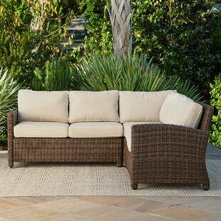 Merveilleux Kiana Wicker Sectional With Cushions