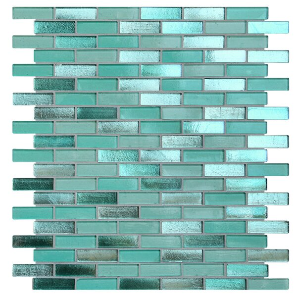Opal 0.63 x 1.88 Glass Mosaic Tile in Biscayne Bay by Kellani