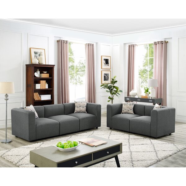 Lotte 2 Piece Living Room Set by Wrought Studio Wrought Studio