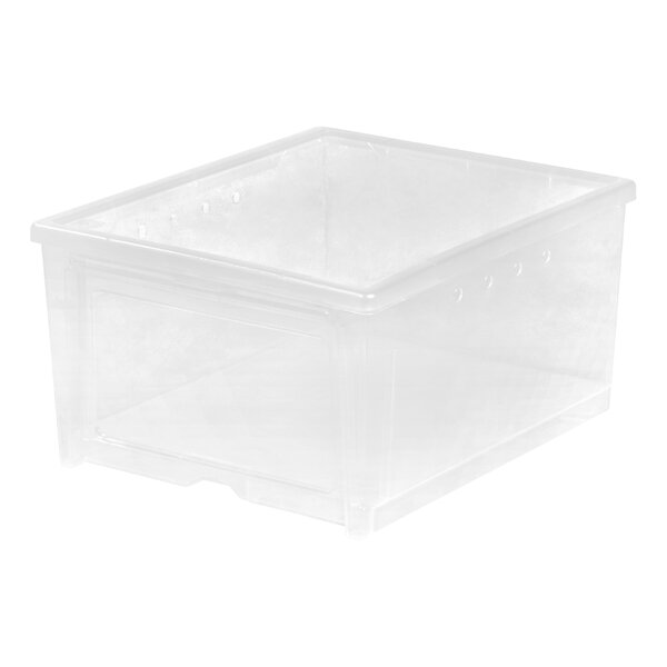 Easy Access 2 Pair Stackable Shoe Storage Box