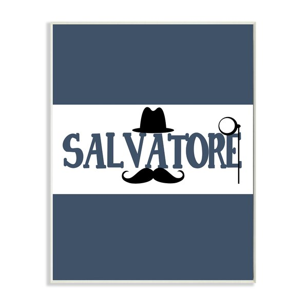 Mustache Hat and Monocle Personalized Wall Plaque by Stupell Industries