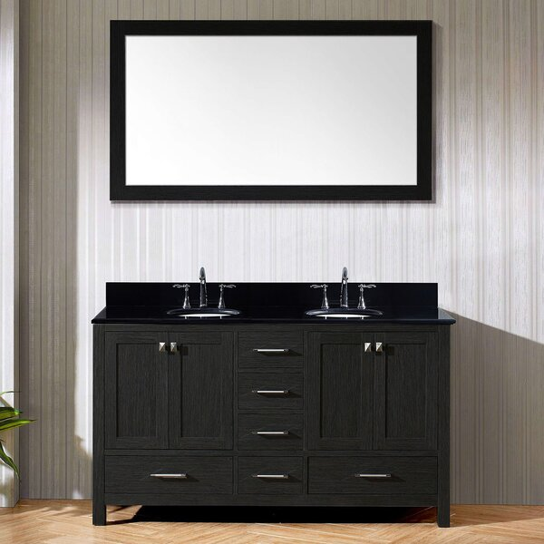 Hamden 59 Double Bathroom Vanity Set with Mirror by Greyleigh