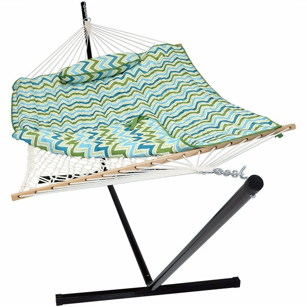 Carrollton Rope Polyester Hammock with Stand by La