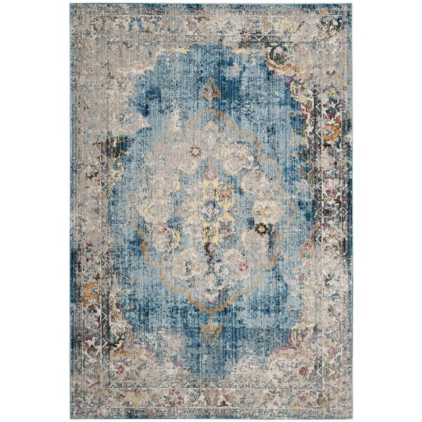Fitzhugh Blue Area Rug by World Menagerie