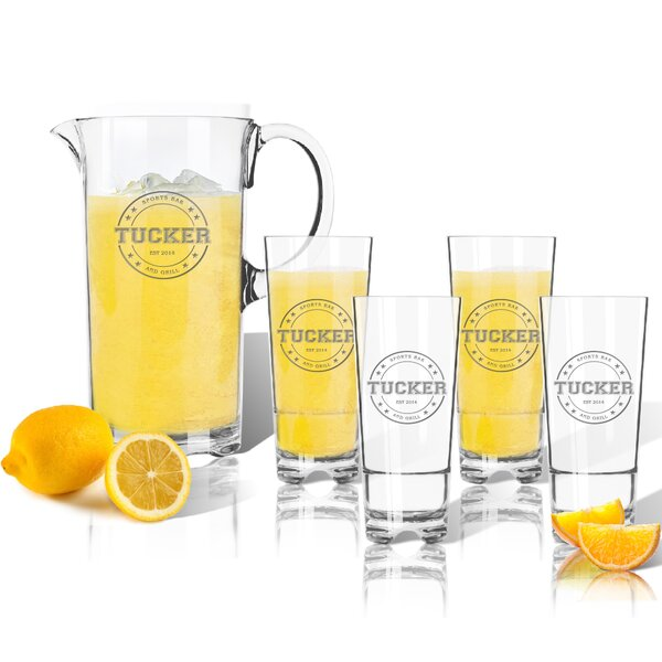 Tritan Collegiate Sports Logo 5 Piece Beverage Serving Set by Carved Solutions