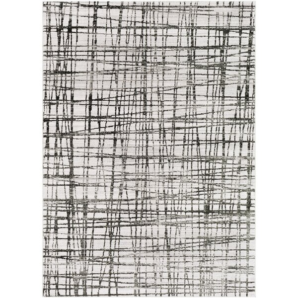 Ginder Abstract Black Area Rug by Wrought Studio