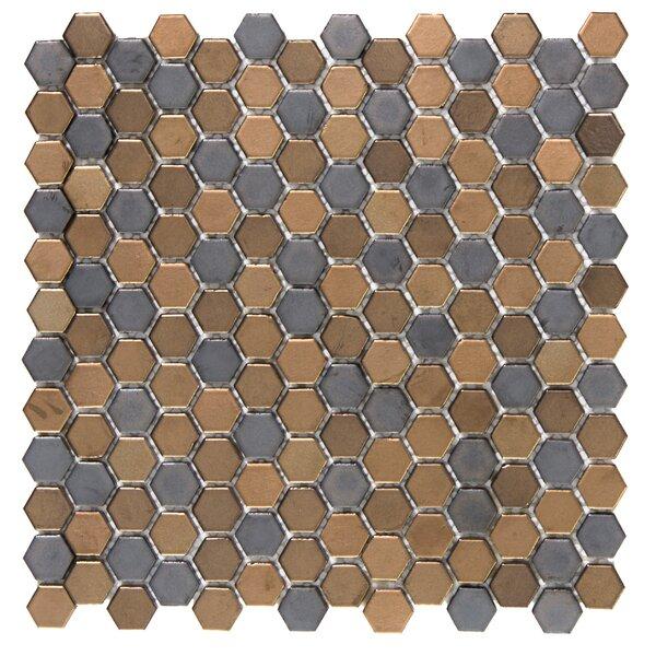 Confetti Porcelain Mosaic Tile in Metal by Emser Tile