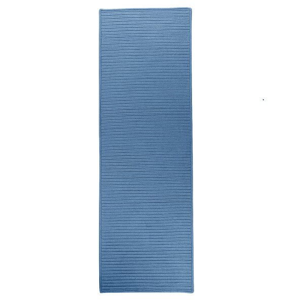 Denise Hand-Braided Blue Indoor/Outdoor Area Rug by Charlton Home