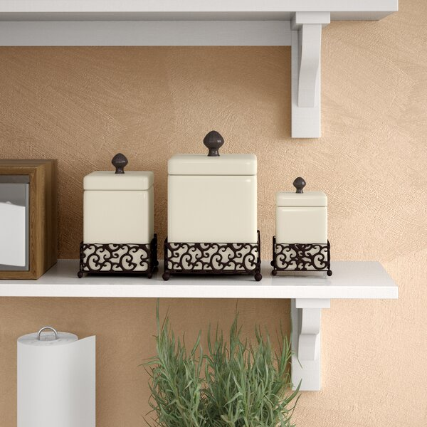 Tessa 3 Piece Kitchen Canister Set by Fleur De Lis Living