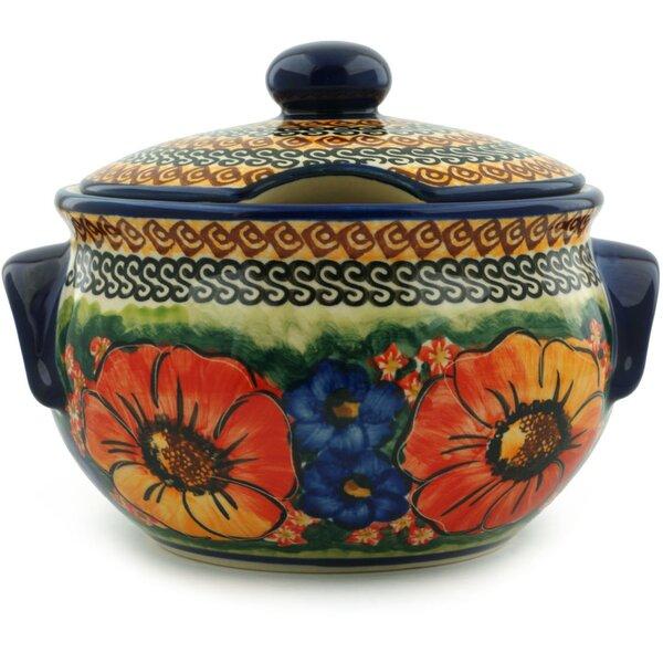 Bright Beauty Polish Pottery 1.31 qt. Tureen by Polmedia