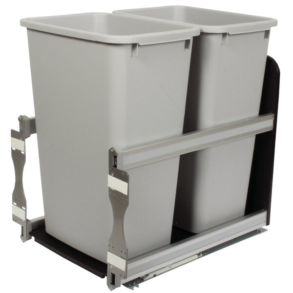 Double Pull-Out 12.5 Gallon Trash Can by Knape&Vogt