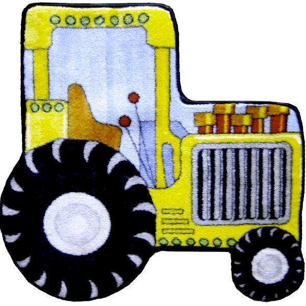 Fun Shape High Pile Tractor Area Rug by Fun Rugs