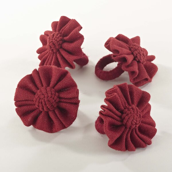 Jute Napkin Ring (Set of 4) by Beachcrest Home
