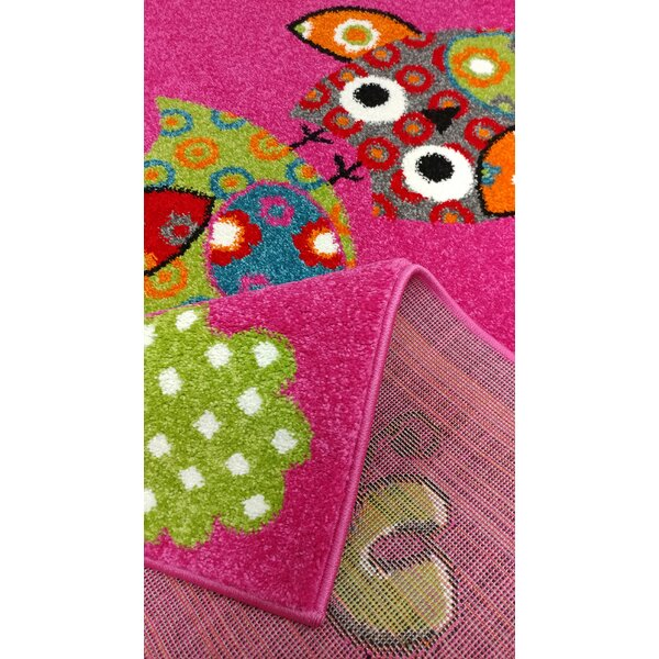 Brittney Bedroom Decor Pink Area Rug by Zoomie Kids