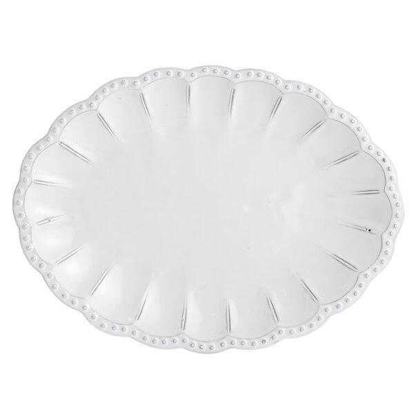 Bella Bianca Beaded Platter by Arte Italica