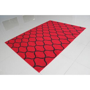 Affordable Price Red/Black Area Rug By Rug Tycoon