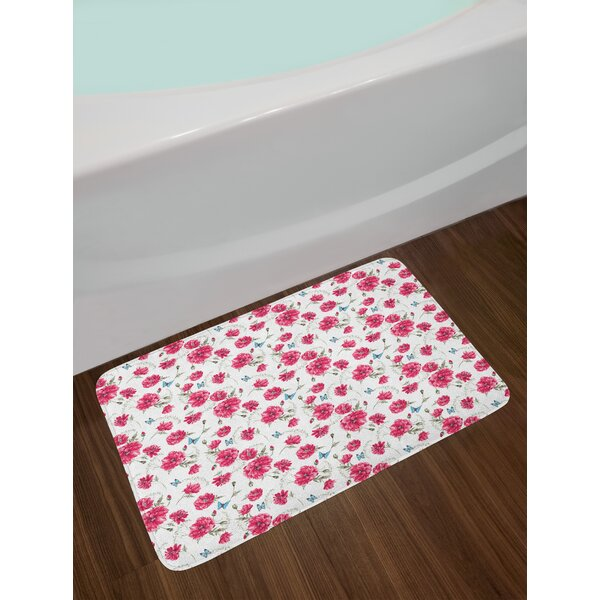 Mothers Butterfly Bath Rug by East Urban Home