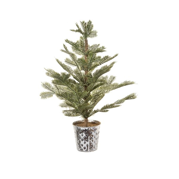 Potted 24 Green Pine Trees Artificial Christmas Tree with Glitter and Sequins by The Holiday Aisle