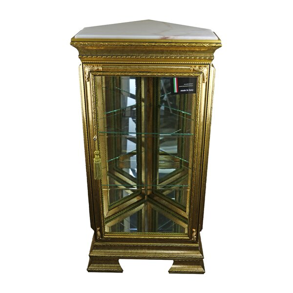 Stlouis Pentagonal Lighted Corner Curio Cabinet by Astoria Grand