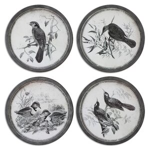 'Birds in Nature' 4 Piece Framed Photographic Print Set by Gracie Oaks