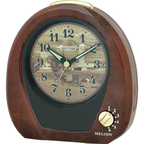 Countryside Morning Table Clock by Rhythm U.S.A Inc