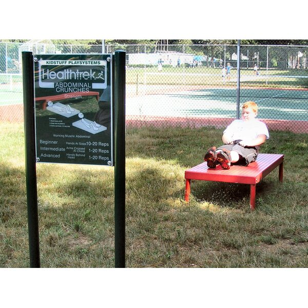 Abdominal Crunch Bench and Sign by Kidstuff Playsystems, Inc.