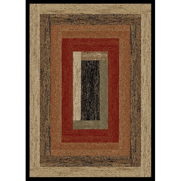 Durango Rustic Panel Beige Area Rug by Loon Peak