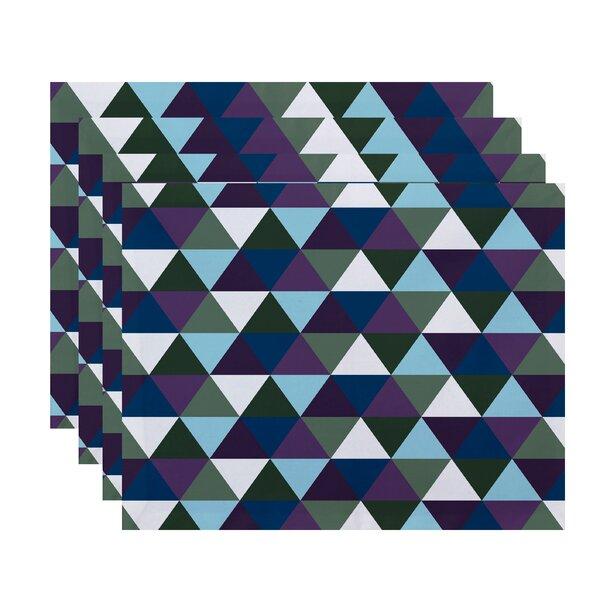 Seybert Geometric Placemat (Set of 4) by Mercury Row