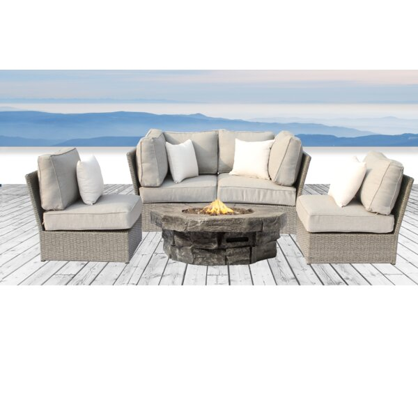 Winsford 5 Piece Sofa Seating Group with Cushions by Rosecliff Heights