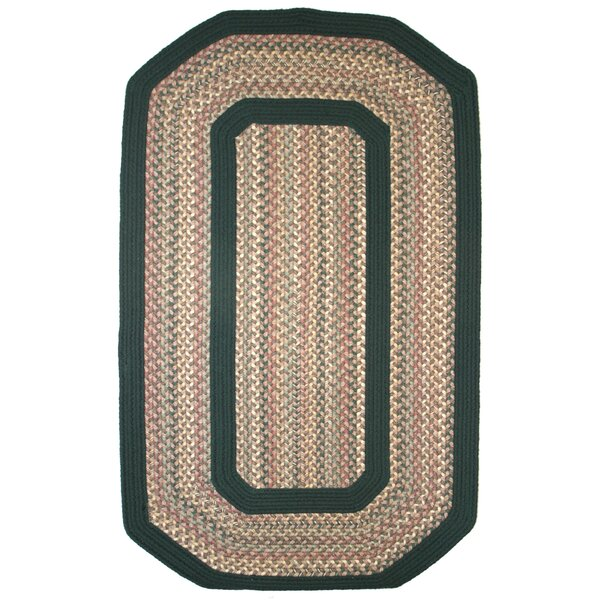 Pioneer Valley II Autumn Wheat with Dark Green Solids Multi Elongated Octagon Rug by Thorndike Mills