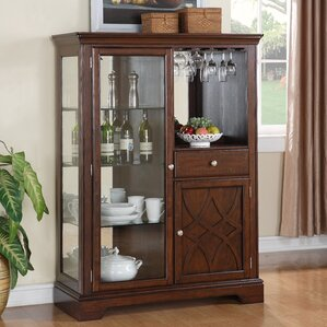 Blue Hills Lighted China Cabinet by Three Posts