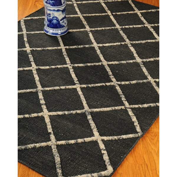 Centre Black Geometric Indoor Rug by Natural Area Rugs