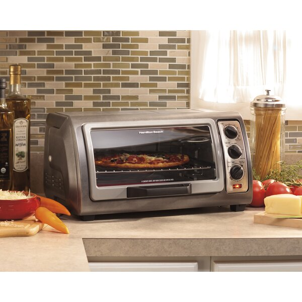 0.6 Cu. Ft. Easy Reach Toaster Oven with Convection by Hamilton Beach