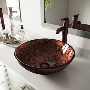Reviews Tempered Glass Circular Vessel Bathroom Sink By VIGO