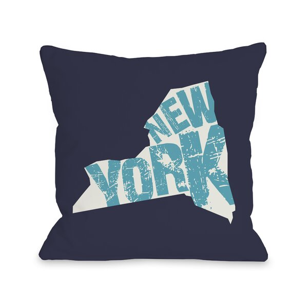 New York State Throw Pillow by One Bella Casa