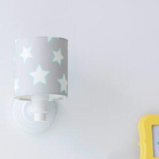 Childrens wall lights youll love buy online wayfair stars 1 light semi flush wall light mozeypictures Gallery
