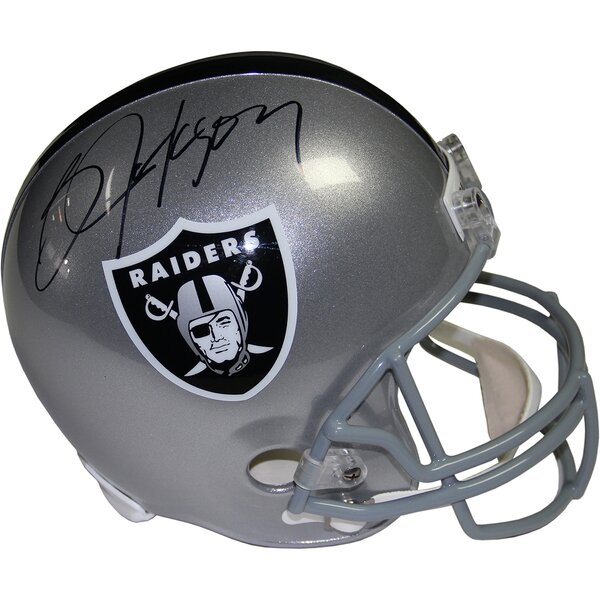 Decorative Bo Jackson Signed Oakland Raiders Replica Helmet by Steiner Sports