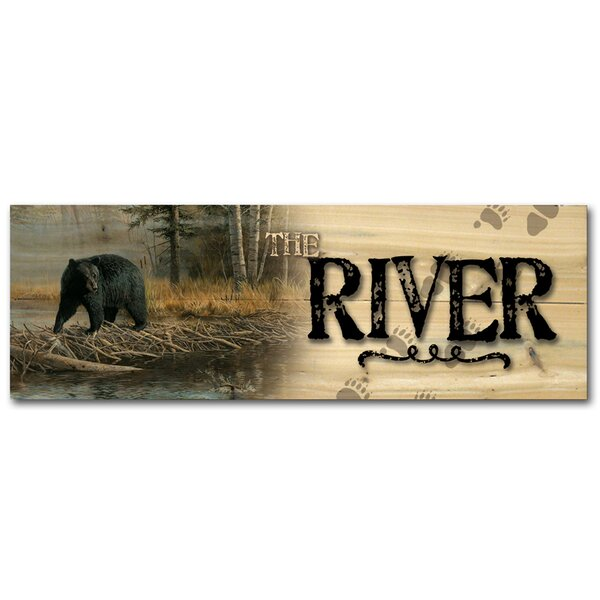 The River No Trespassing Graphic Art Plaque by WGI-GALLERY