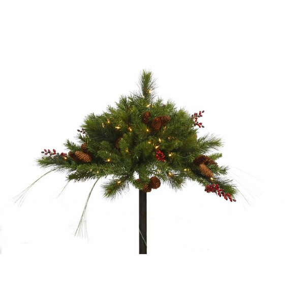 Mixed Berry Cone Urn Filler with 50 Lights by Vickerman