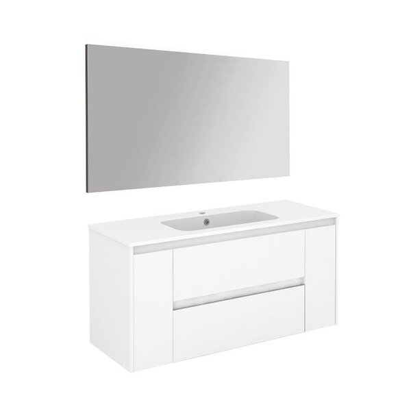 Ambra 47 Single Bathroom Vanity Set with Mirror by WS Bath Collections