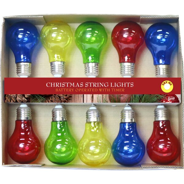 Edison Bulb String Lights with 10 LED Lights by Alpine