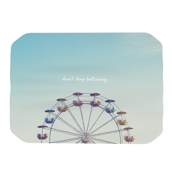 Dont Stop Believing Placemat by KESS InHouse