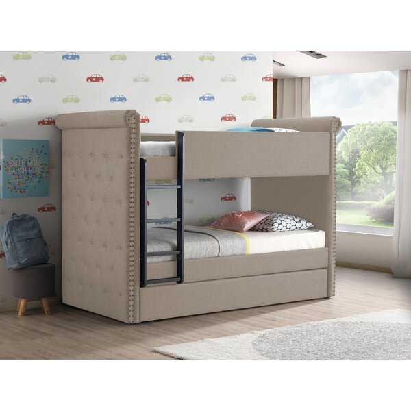 Fuchs Twin over Twin Bunk Bed with Trundle by Harriet Bee
