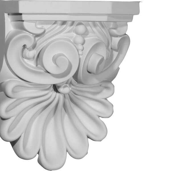 Quentin 9H x 6 3/8W x 5 5/8D Shell Corbel by Ekena Millwork