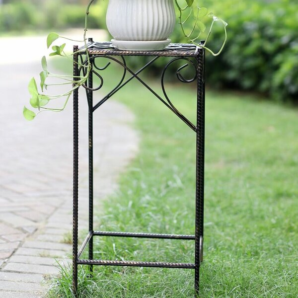 Celtic Clover Large Square Cast-Iron Plant Stand by ORE Furniture