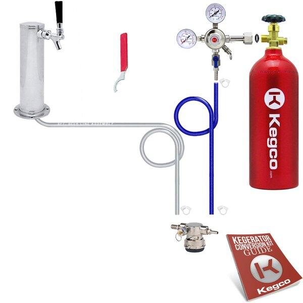 Standard Low Profile Kegerator Conversion Kit with 5 lb. CO2 Tank by Kegco